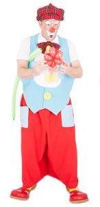 Clown Titof plooit ballonnen